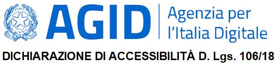 Dichiarazione di accessibilità D. Lgs. 106/18