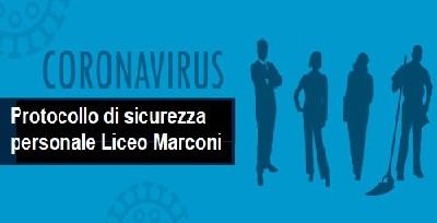 Protocollo di sicurezza Personale Liceo Marconi